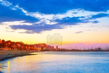 Denia sunset las Rotas in Mediterranean Spain