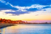 Denia sunset las Rotas in Mediterranean Spain