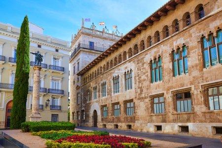 Valencia Palau Generalitat in Manises square Spain