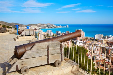Cullera Cannon in the Castle top with aerial skyline