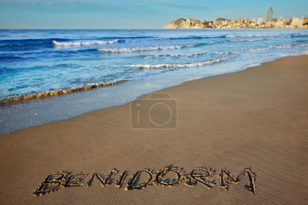 Benidorm written spell word letters in Alicante