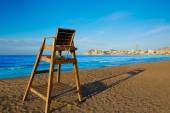 Benidorm Poniente beach watchtower seat Alicante