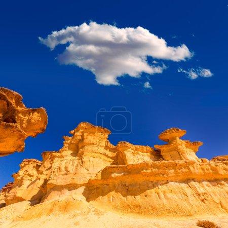 Photo pour Bolnuevo Mazarron grès érodé en Espagne Murcie - image libre de droit