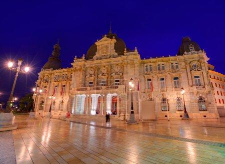 Photo pour Mairie de cartagena sunset hôtel de ville à murcia Espagne - image libre de droit