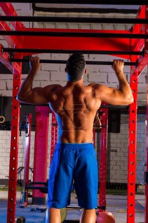 Toes to bar man pull-ups 2 bars workout