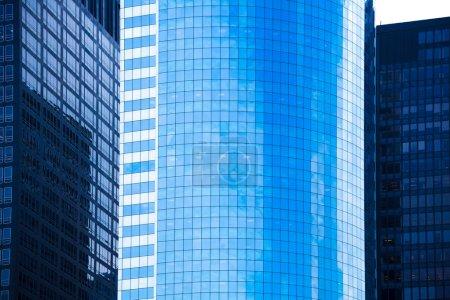 Photo pour Lower Manhattan miroirs gratte-ciel textures bleues NYC New Yourk USA - image libre de droit