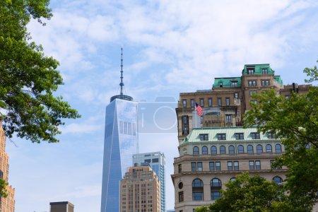 Lower Manhattan new skyline Freedom Tower US