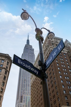 Manhattan New York city Broadway 6th Av