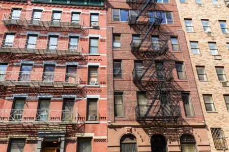 West Manhattan buildings facades in New York