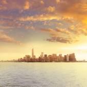 "Постер, картина, фотообои ""Manhattan New York skyline from NY bay US"""