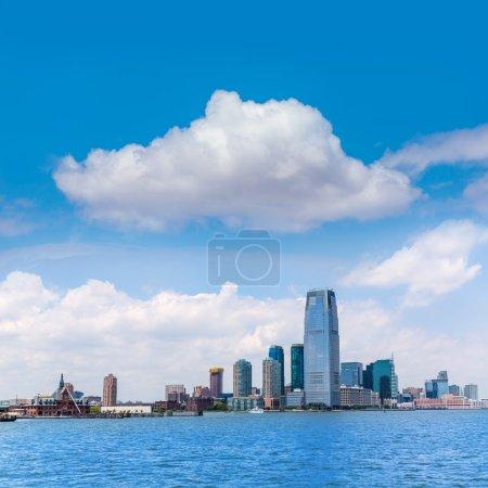 New Jersey city skyline at Hudson river New York