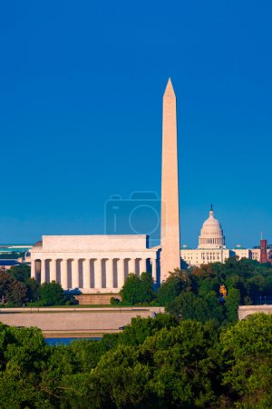 Washington Monument Capitol and Lincoln memorial