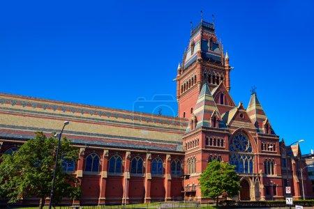 Edificio histórico de la Universidad Harvard en Cambridge