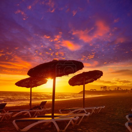 Coucher de soleil Almeria Cabo de Gata à Retamar beach