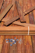 IPE palubní dřevo instalační šrouby upevňovací klipy