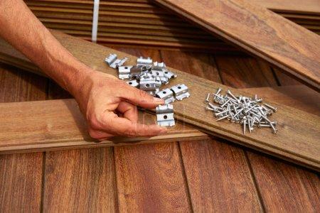 Ipe deck wood installation screws clips fasteners