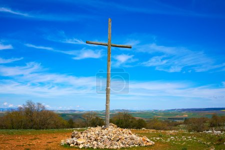 Cruz de Atapuerca cross in Saint James Way