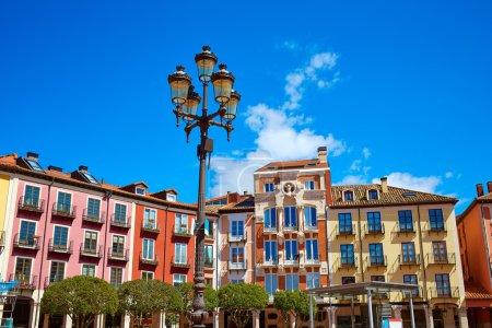 Photo pour Place de Burgos Plaza Mayor en Castille-Leon de l'Espagne - image libre de droit