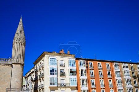 Burgos facades in Rey San Fernando square