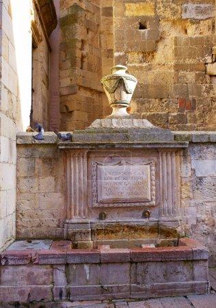 Leon Carlos IV fountain beside Plaza Mayor Spain
