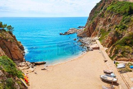 Photo pour Tossa de Mar Codolar plage platja à Costa Brava de Catalogne Espagne - image libre de droit
