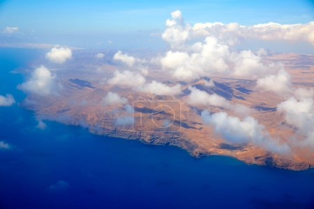Aerial view of Fuerteventura at Canary Islands
