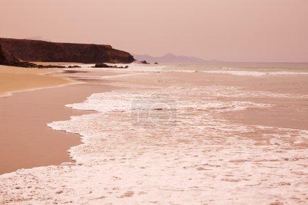 Fuerteventura La Pared beach at Canary Islands