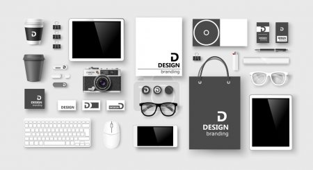 Set of corporate identity and branding. Vector