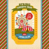 County fair vintage invitation card