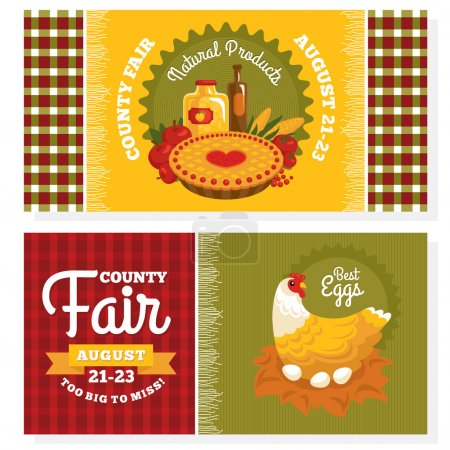 County fair vintage invitation cards
