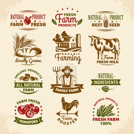 Vintage farm labels