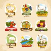 Vintage farm labels