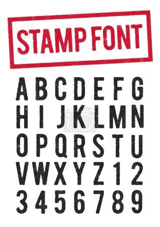 """Illustration pour Type de timbre vectoriel usé, utilisez le """"O"""" pour le """"zéro"""" """" - image libre de droit"""