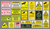 Vector pack of different CCTV