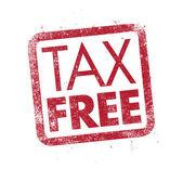 Tax Free ink stamp