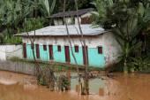 überfluteten Haus