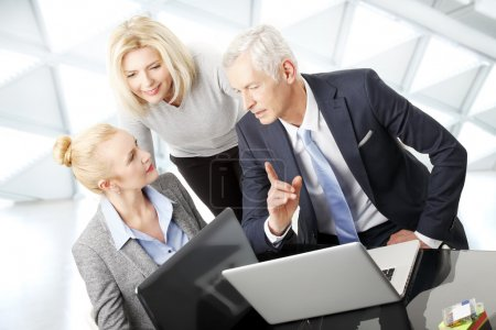 Group of business people consulting