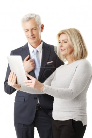 Business team with digital tablet