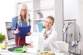 Businesswomen working together in designer studio