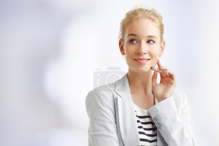 Smiling young professional woman
