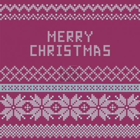 Norwegian, Christmas and winter seamless patterns - congratulation