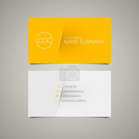 Illustration for Modern simple business card template with place for your company name - Royalty Free Image