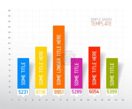 Illustration for Vector Infographic flat design column graph chart colorful template - Royalty Free Image
