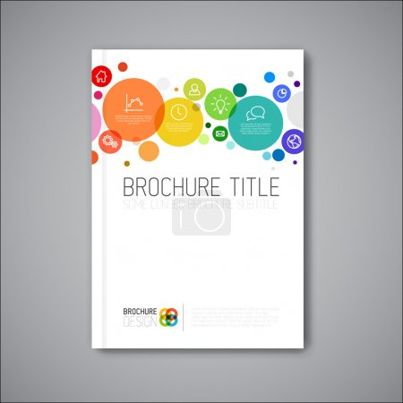 Illustration for Modern Vector abstract brochure, book, flyer design template - Royalty Free Image