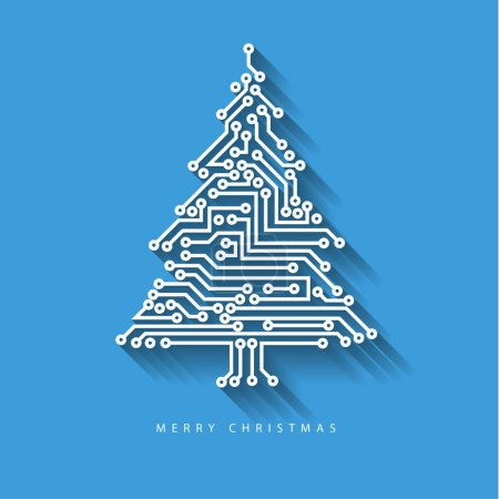 Christmas tree from digital electronic circuit