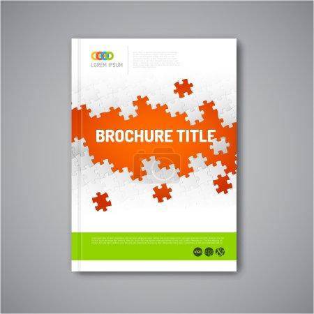Modern brochure report design template