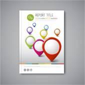 Šablona návrhu moderní brožura