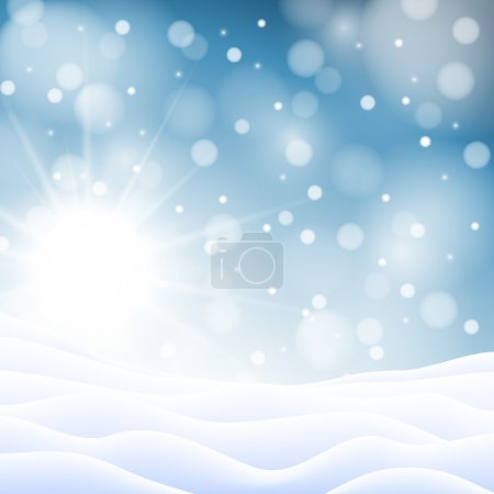 Christmas snowy background