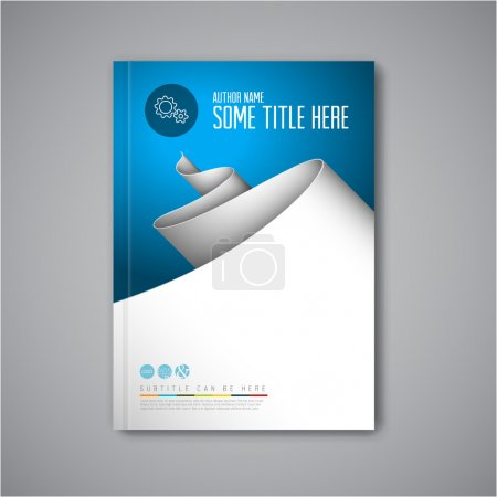 Illustration for Modern Vector abstract brochure, book, flyer design template with paper - Royalty Free Image