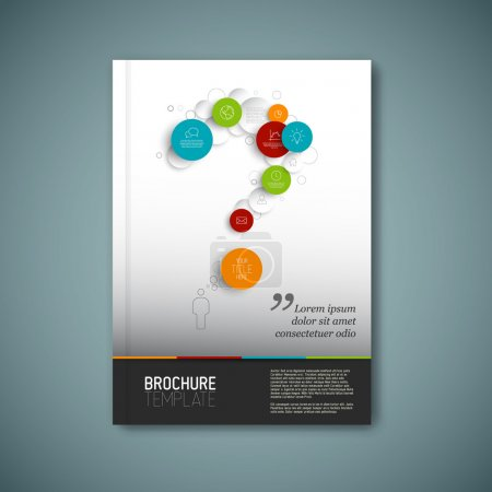Vector brochure report design template